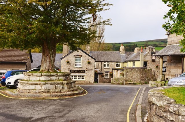 Widecombe in the Moor: Centre of Village