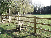 SP2704 : Stile on the footpath by andrew auger