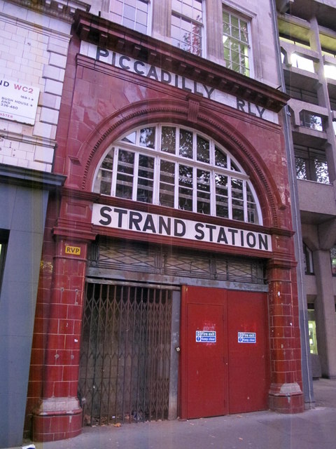 Entrance to the (former) Aldwych tube station, The Strand, WC2