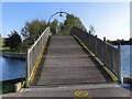 SE5901 : Footbridge, Doncaster Lakeside by David Dixon