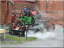 SK2625 : Claymills Victorian Pumping station - warming the outdoor exhibits by Chris Allen