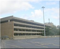 SE1632 : Multi-Storey Car Park - viewed from Bradford Interchange by Betty Longbottom