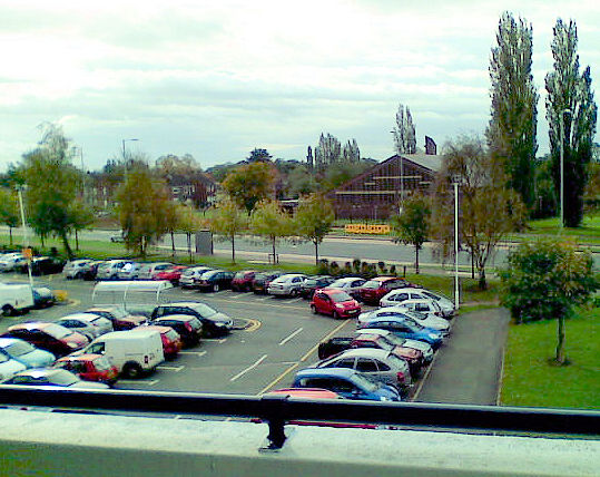 Ground level car-park at Wythenshawe Forum
