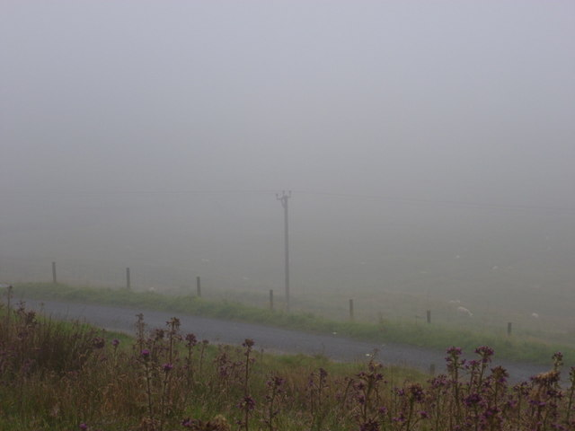 Fladdabister: not much of a view today