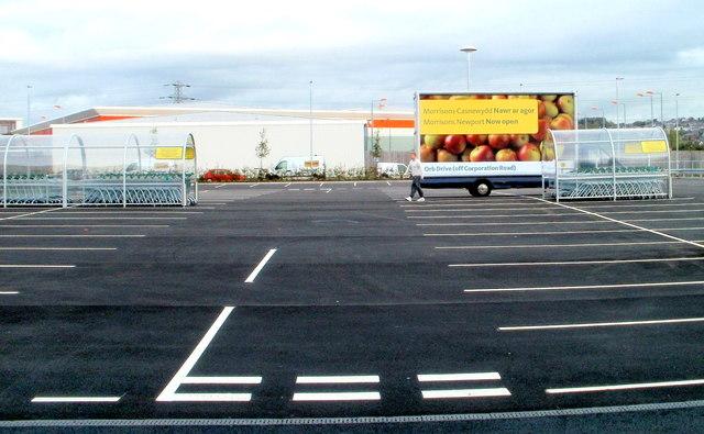 Morrisons advertising trailer Newport