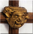 SU1332 : Church of St Lawrence- ceiling boss (2) by Jonathan Kington
