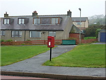 HU4540 : Lerwick: postbox № ZE1 88, Ackrigarth by Chris Downer