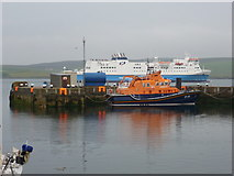 HU4741 : Lerwick: lifeboat and Northlink ferry by Chris Downer