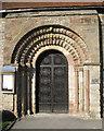 SP1566 : Norman doorway arch, Beaudesert church  by Robin Stott
