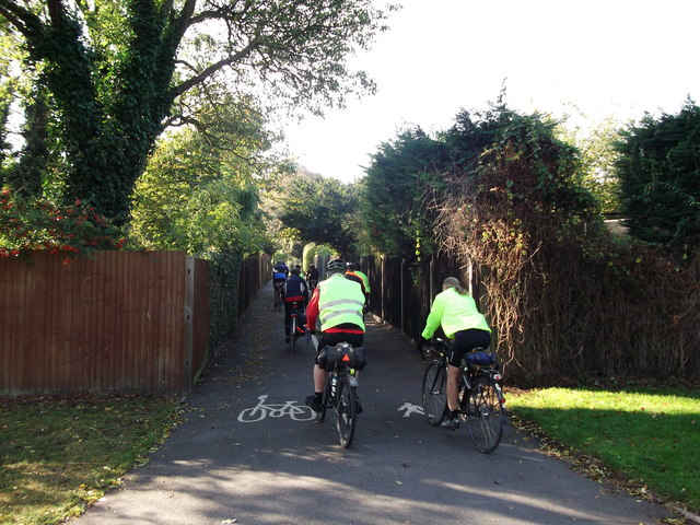 National Cycle Network Route 21 leaves Cator Park