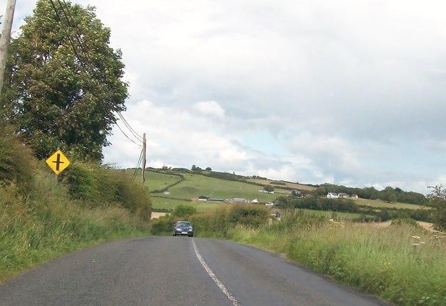 The R164 south of Carrickspringan