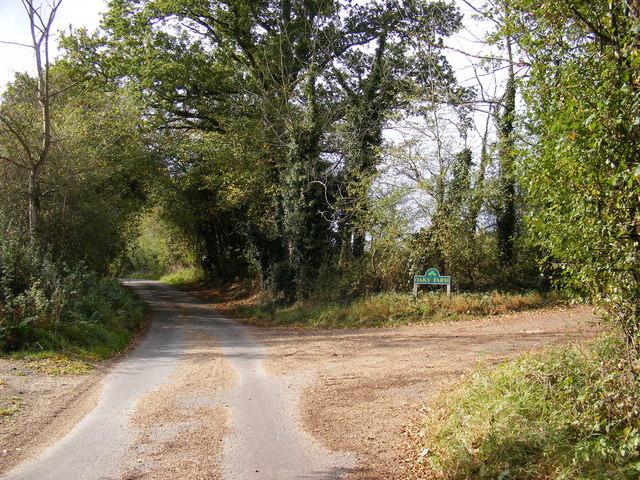 Low Road, Ubbeston & the Entrance to Oaks Farm