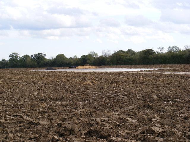 Hard Standing in a field in Cratfield Lane