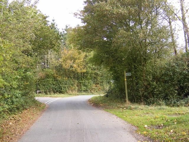 Swan Green Lane & the footpath to Cratfield Road