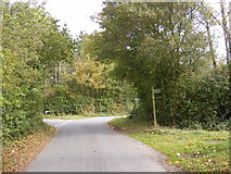 TM3074 : Swan Green Lane & the footpath to Cratfield Road by Adrian Cable