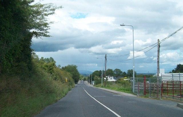 View north-eastwards along Kells Road (R164)