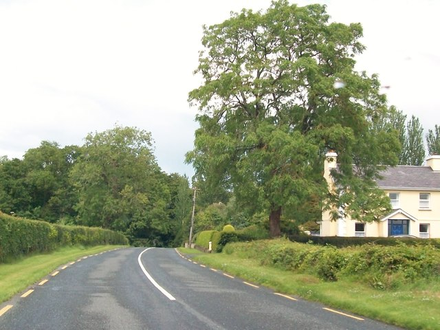 The R164 at Donore, south of Moynalty