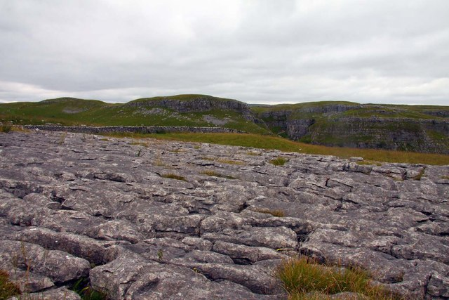 Limestone pavement at Ing Scar Crag