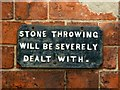 SK3538 : Cautionary sign at Darley Abbey by Graham Hogg
