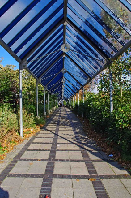 Covered walkway from Belgard Square East to Belgard Road, Tallaght, Dublin