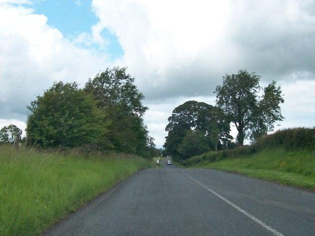 The R154 Kells Road east of Oldcastle