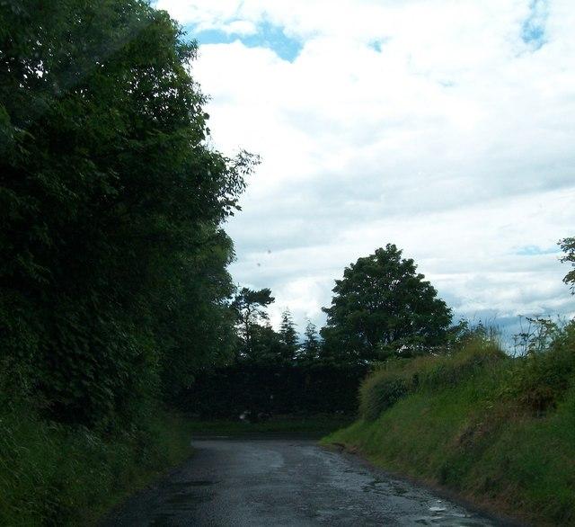 Minor road junction at Rahaghy