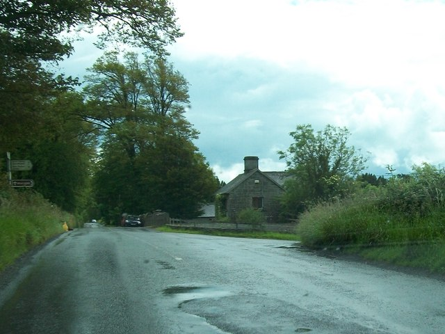 Road junction at Loughcrew