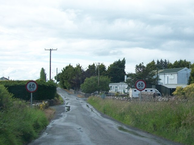 Entering the hamlet of Moylagh, Co Meath