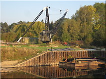 SO8453 : Crane at Diglis by Philip Halling