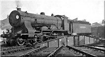 TQ2976 : Ex-LSW 4-6-0 on turntable at Nine Elms Locomotive Depot by Ben Brooksbank
