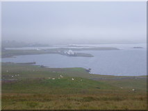 HU4841 : Bressay: the ferry terminal from Hill of Cruester by Chris Downer