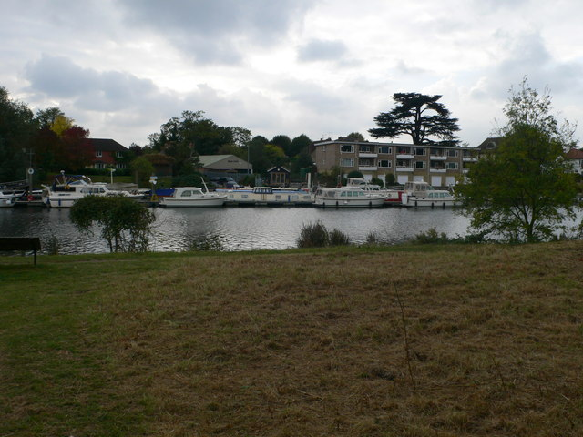 Boats moored at Thames Ditton