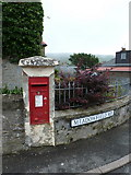 HU4039 : Scalloway: postbox № ZE2 18, Meadowfield Road by Chris Downer