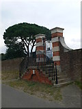 TQ1667 : Hampton Court Park Gates by Eirian Evans