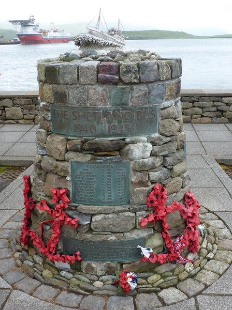 Scalloway: Shetland Bus memorial