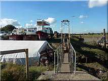 TR0262 : Footbridge to Iron Wharf, Faversham Creek by pam fray