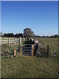 SP2504 : New gate on the footpath from Kencot to Alvescot by andrew auger
