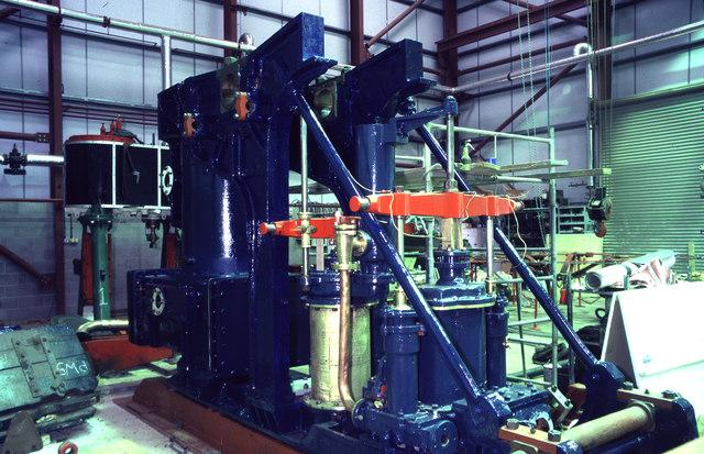 Markham Grange steam Museum - side lever engine