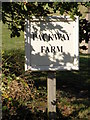 TM3577 : Packway Farm sign by Adrian Cable