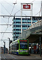 TQ3265 : Tram at East Croydon Station by Peter Trimming