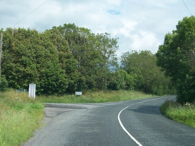 Junction of the road from Loughcrew with the R154 (Oldcastle/Kells Road)