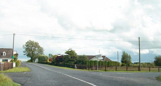 Cross roads on the R163 at Raneevoge