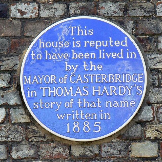 Blue plaque, Barclays Bank, South Street, Dorchester