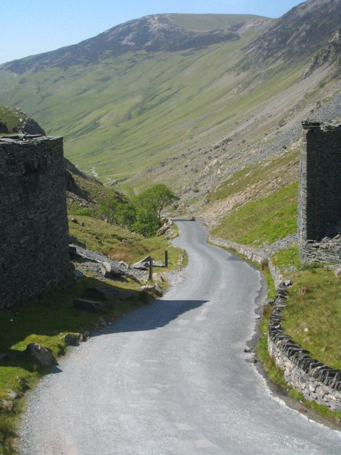 Honister Pass seen from the slate mine