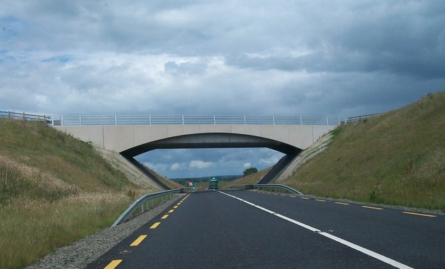 Bridge carrying the R163 over the N52 west of Kells