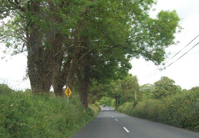 Approaching Ervey Cross Roads on the R164