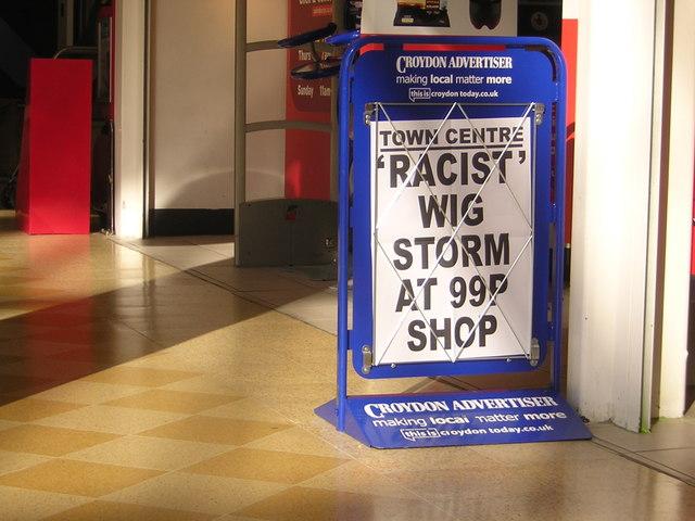 Racist wig storm at 99p shop