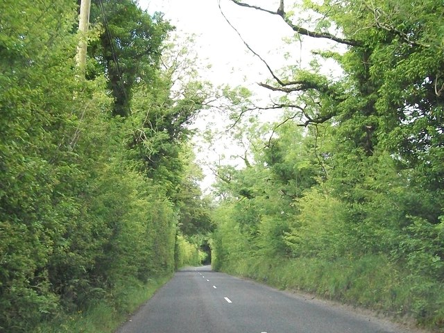 The R164 north of Carnacally