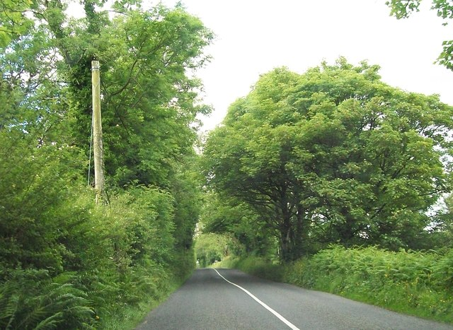 The R164 south of Carnacally Cross Roads