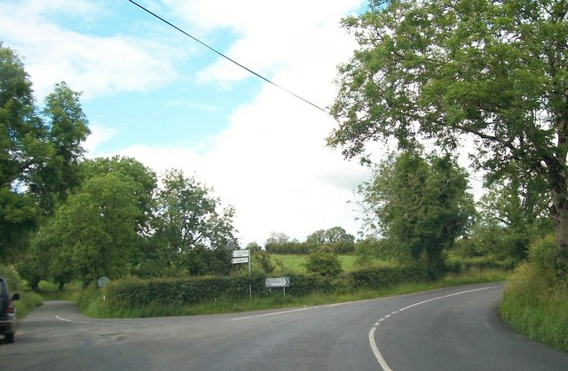 The junction of the R164 and the Tirawinnea Road at Corcarra, Co Meath